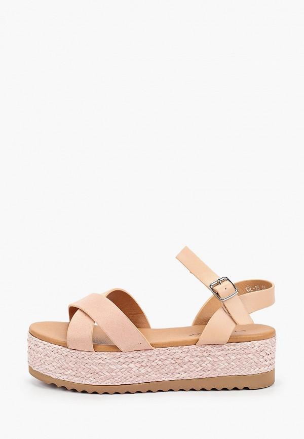 женские сандалии stephan, розовые
