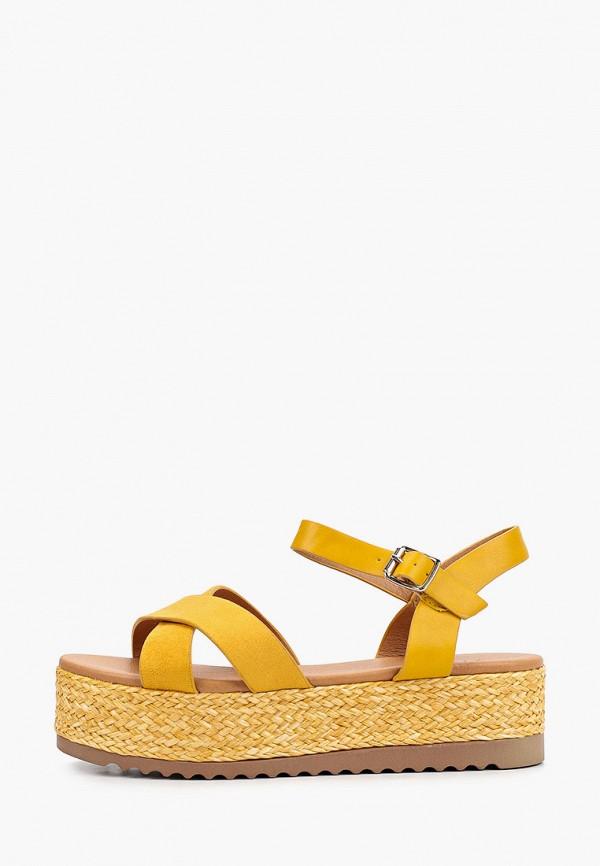 женские сандалии stephan, желтые
