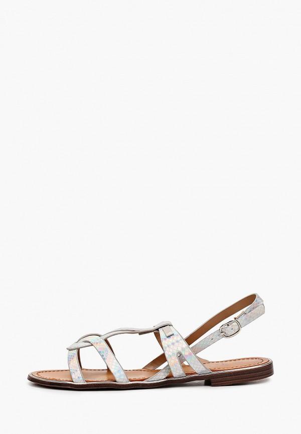 женские сандалии stephan, серебряные