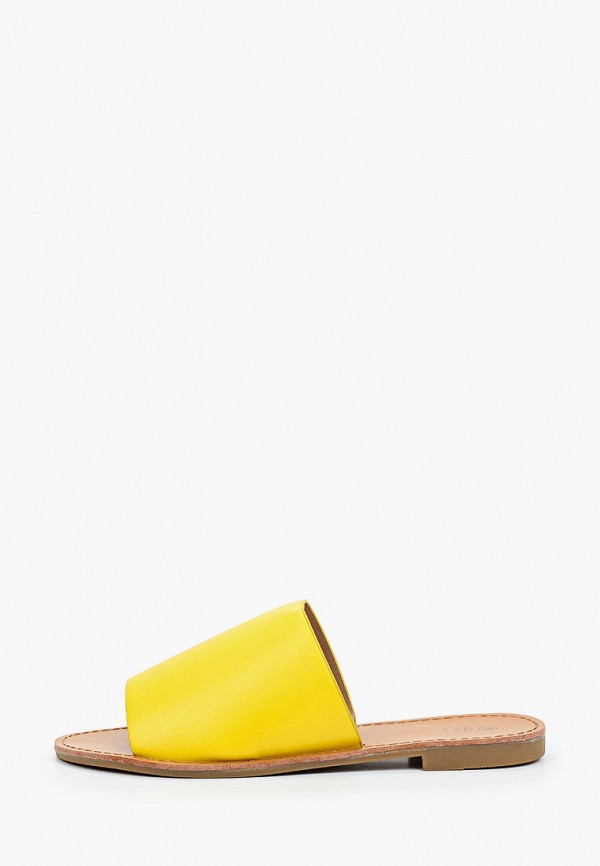 женское сабо stephan, желтое