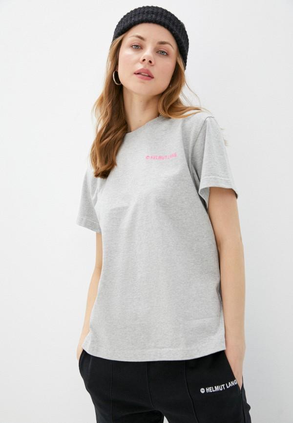 женская футболка helmut lang, серая