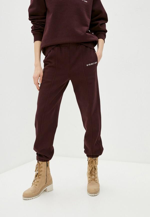 женские спортивные брюки helmut lang, бордовые