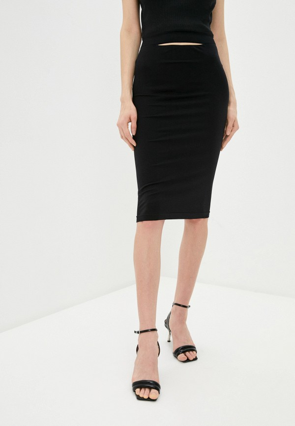 женская зауженные юбка helmut lang, черная