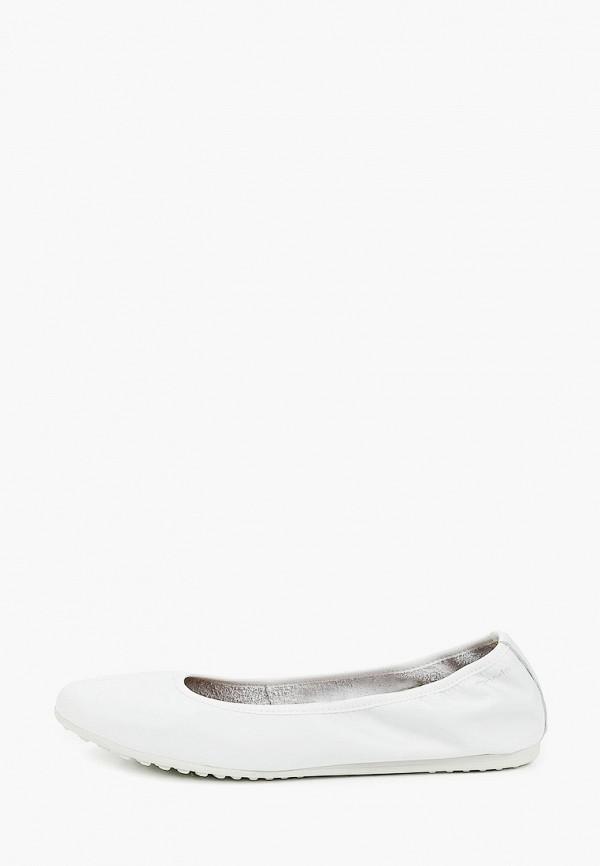 женские балетки tamaris, белые