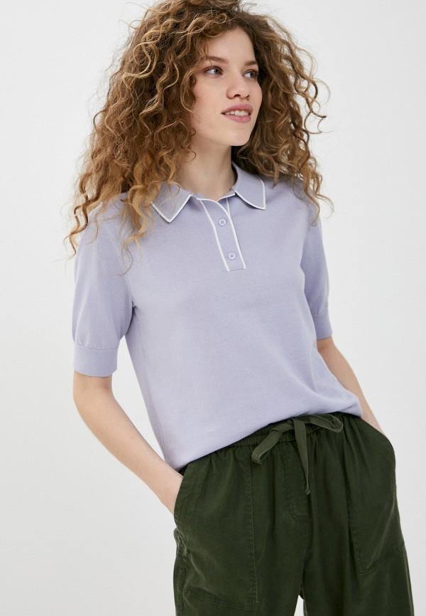 женское поло s.oliver, фиолетовое