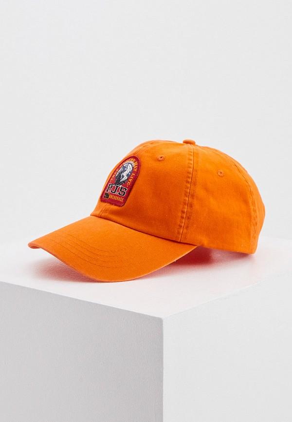 женская бейсболка parajumpers, оранжевая
