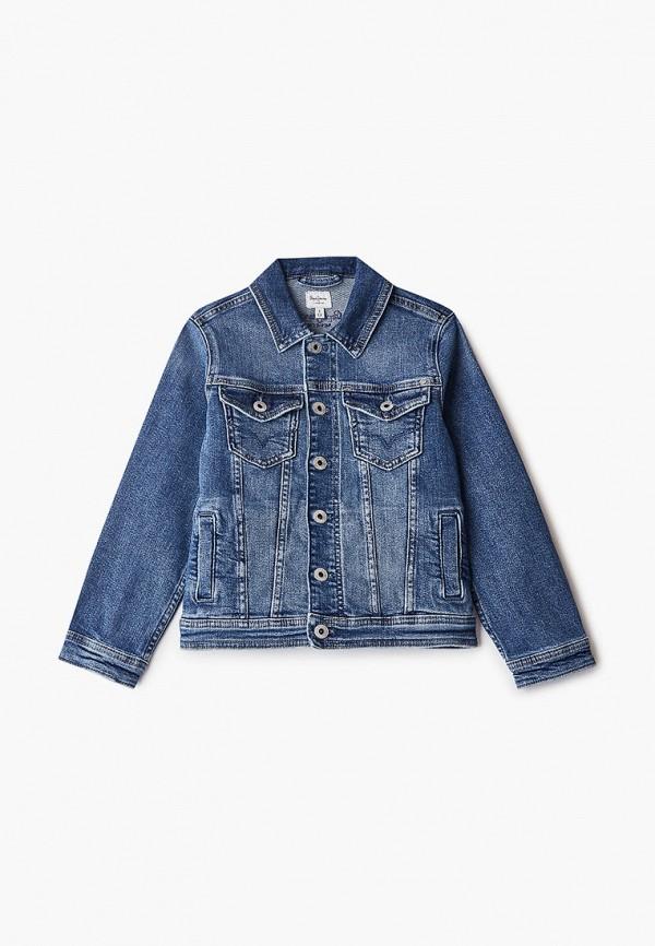 джинсовые куртка pepe jeans london для мальчика, синяя