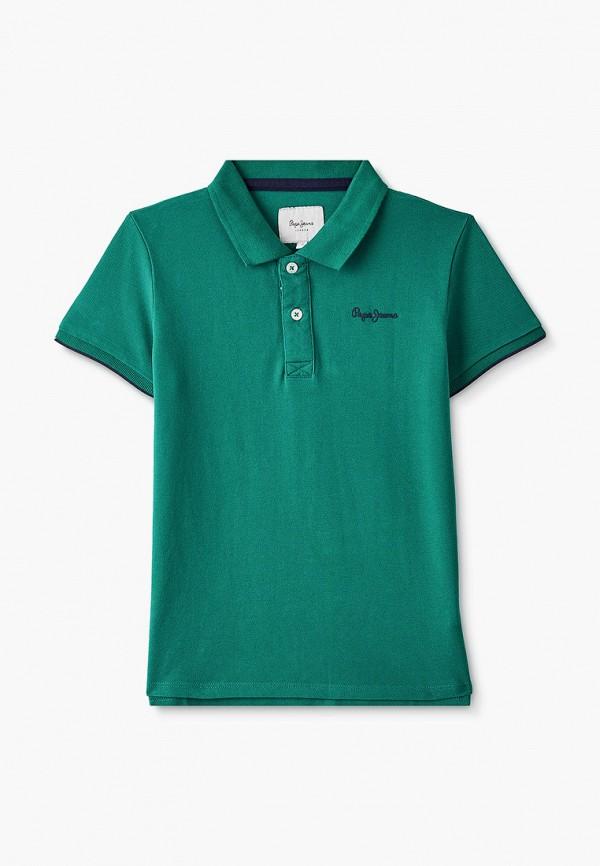 поло pepe jeans london для мальчика, зеленое