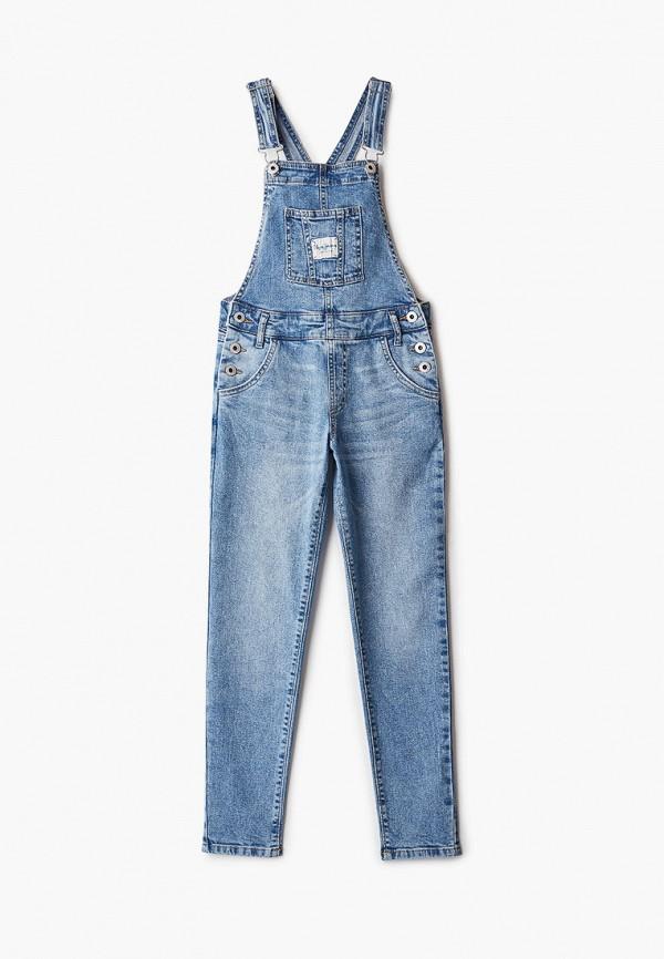 джинсовые комбинезон pepe jeans london для девочки, голубой