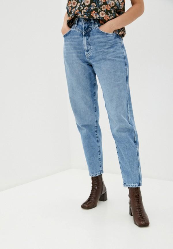 женские джинсы-мом pepe jeans london, голубые