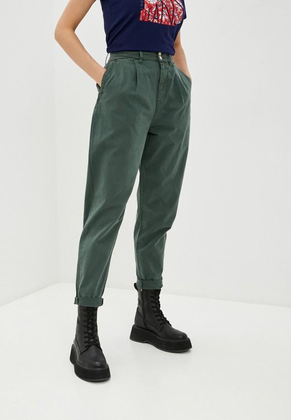 женские повседневные брюки pepe jeans london, бирюзовые