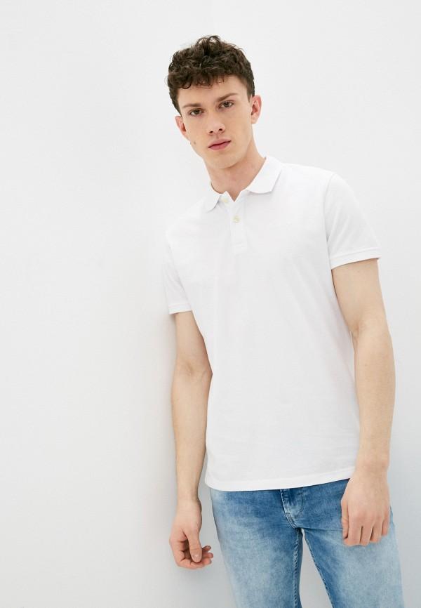 мужское поло с коротким рукавом pepe jeans london, белое