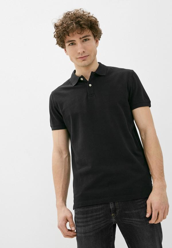 мужское поло с коротким рукавом pepe jeans london, черное