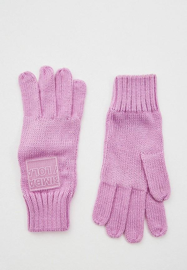 женские текстильные перчатки bimba y lola, фиолетовые