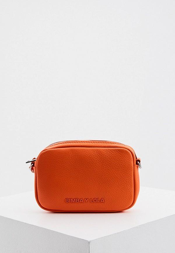 женская сумка через плечо bimba y lola, оранжевая
