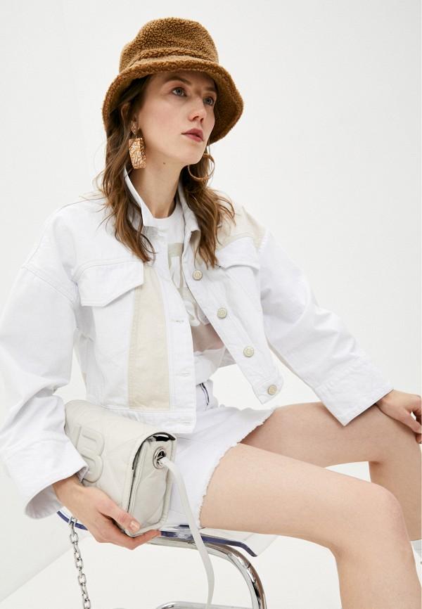 женская джинсовые куртка bimba y lola, белая