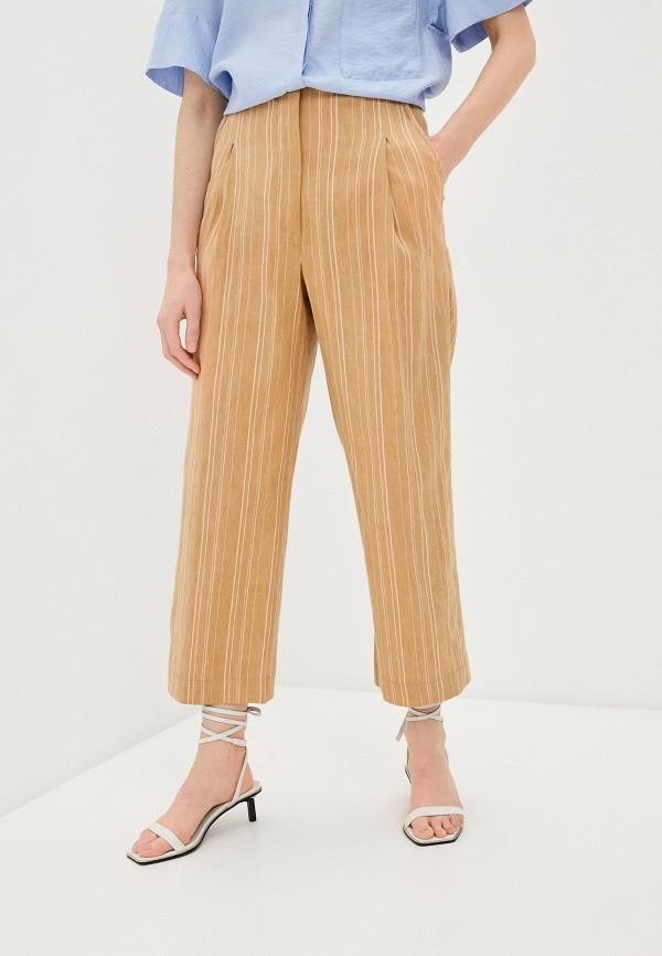 женские повседневные брюки bimba y lola, коричневые