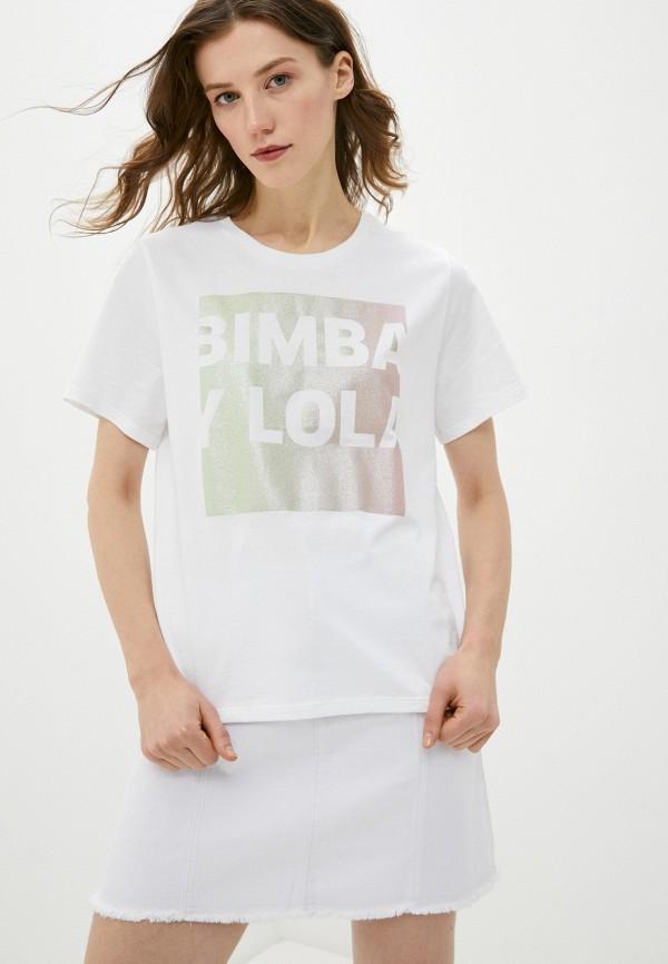 женская футболка bimba y lola, белая