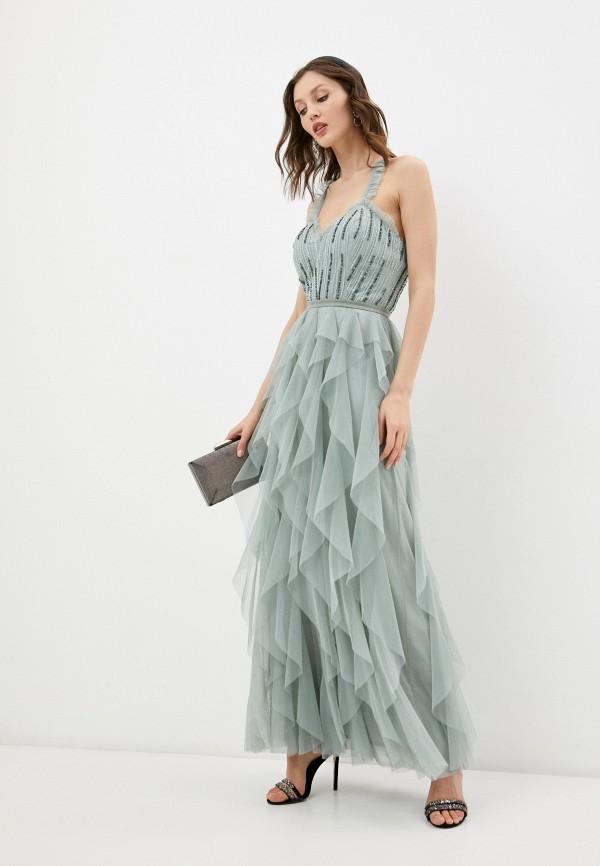 женское вечерние платье little mistress, хаки