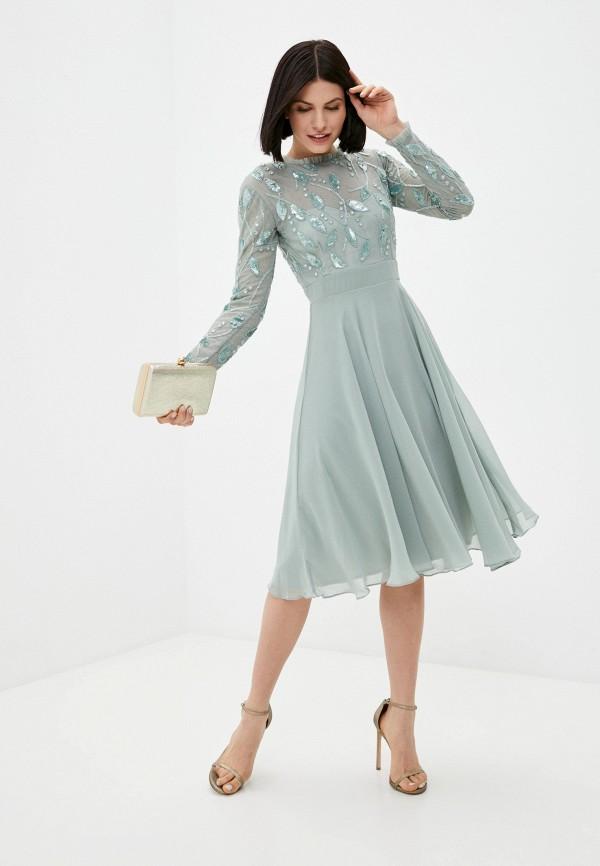 женское вечерние платье little mistress, зеленое