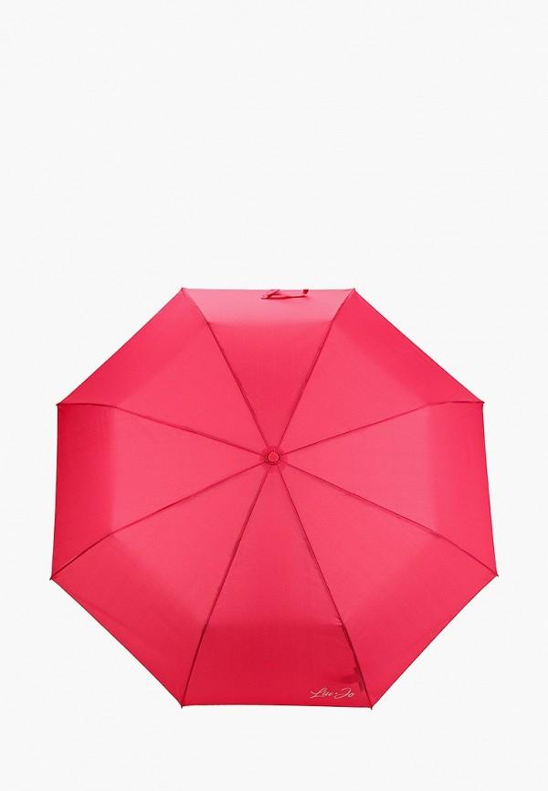 женский складные зонт liu jo, розовый