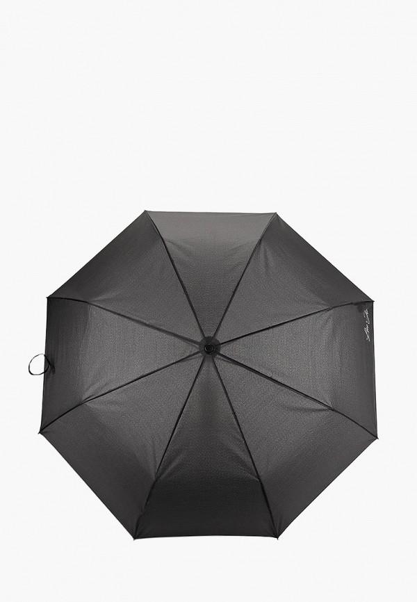 женский складные зонт liu jo, черный