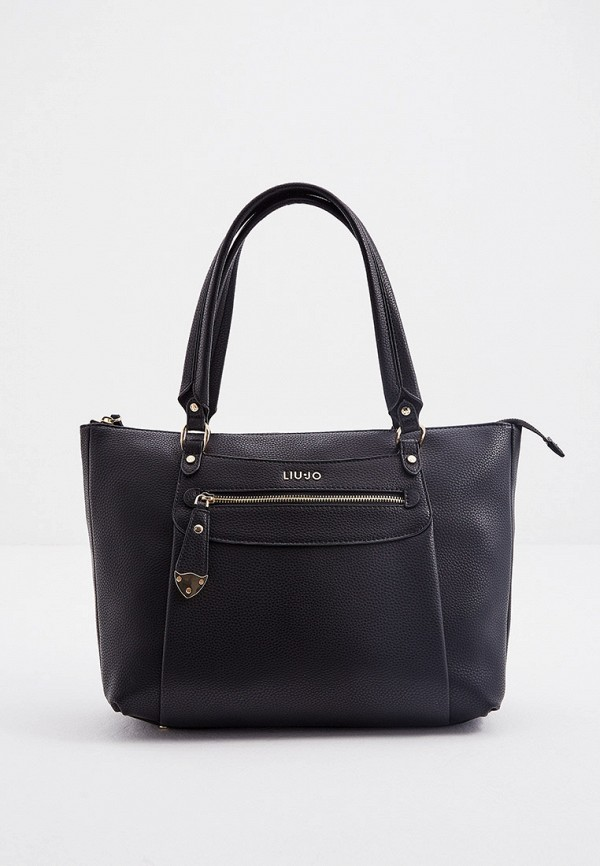 женская сумка с ручками liu jo, черная