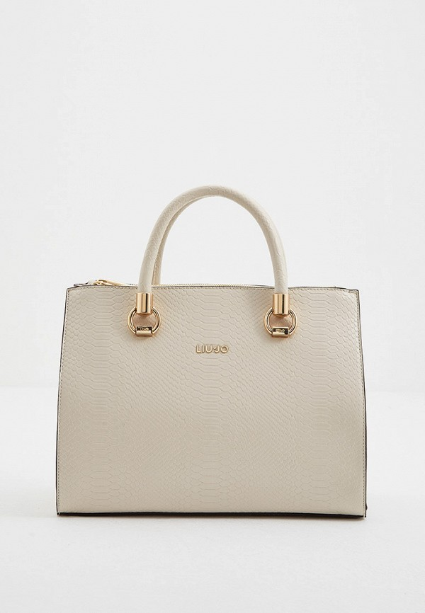 женская сумка с ручками liu jo, белая