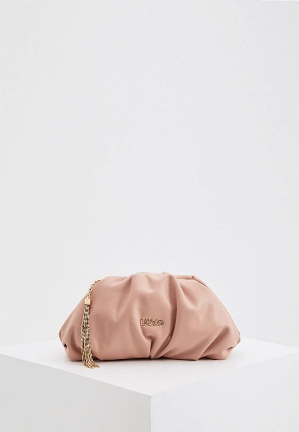 женский клатч liu jo, розовый