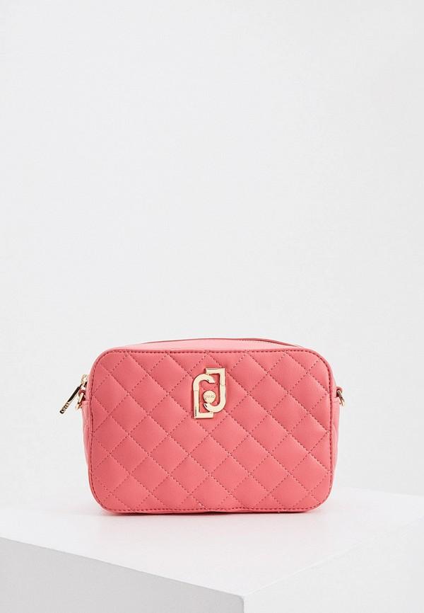 женская сумка liu jo, розовая