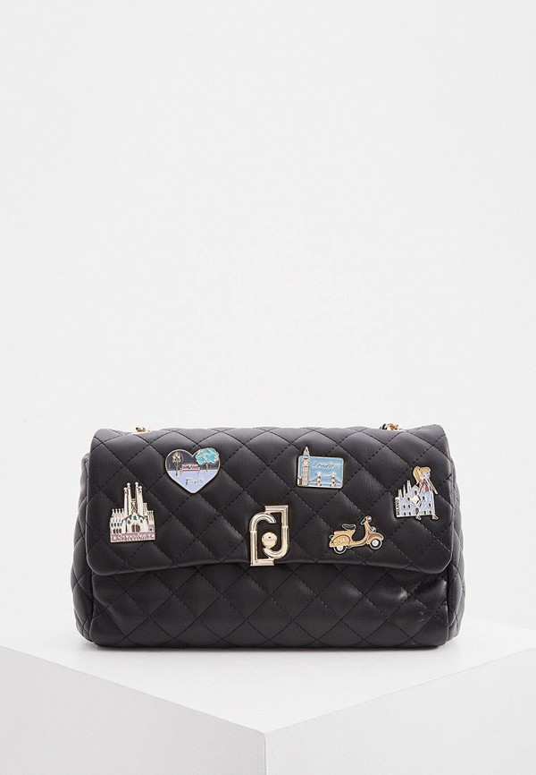 женская сумка через плечо liu jo, черная