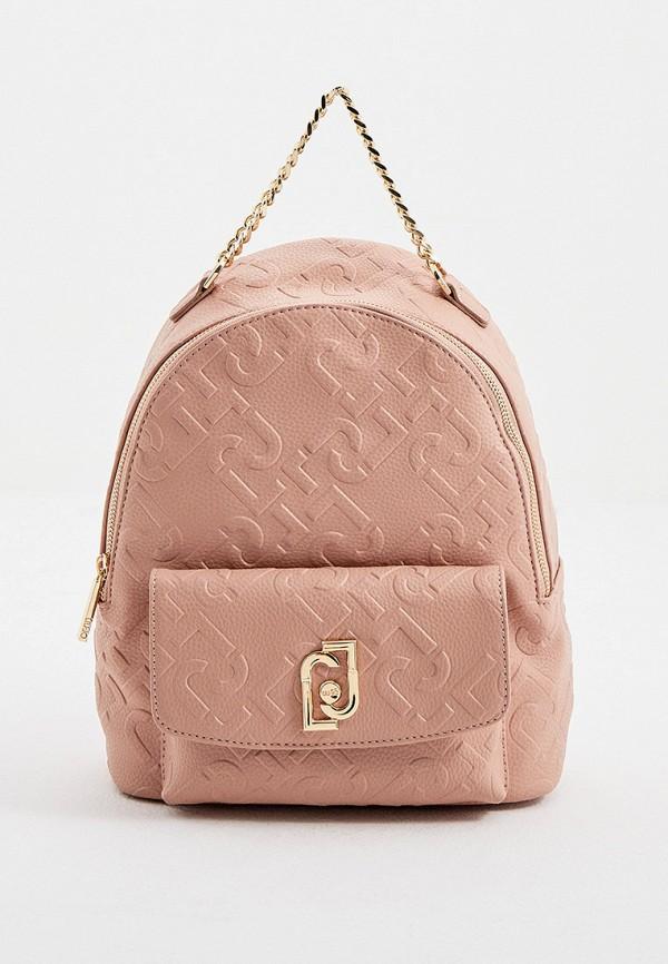 женский рюкзак liu jo, розовый