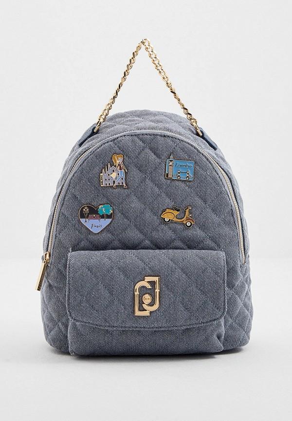 женский рюкзак liu jo, голубой