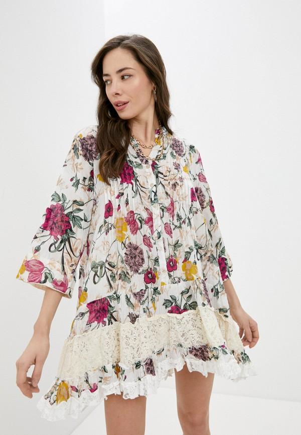 женское повседневные платье elsi, белое