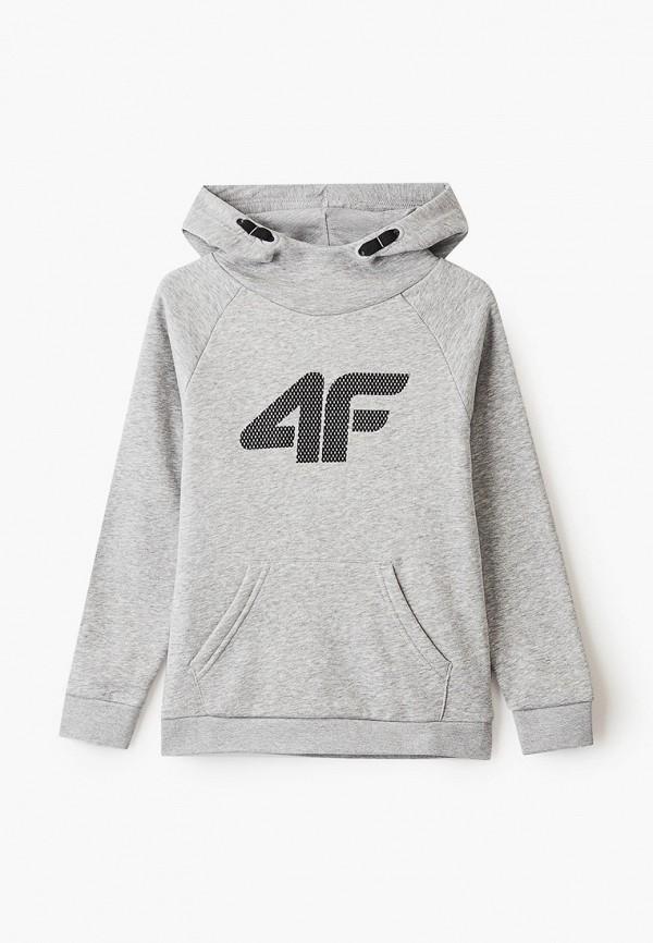 худи 4f для мальчика, серые