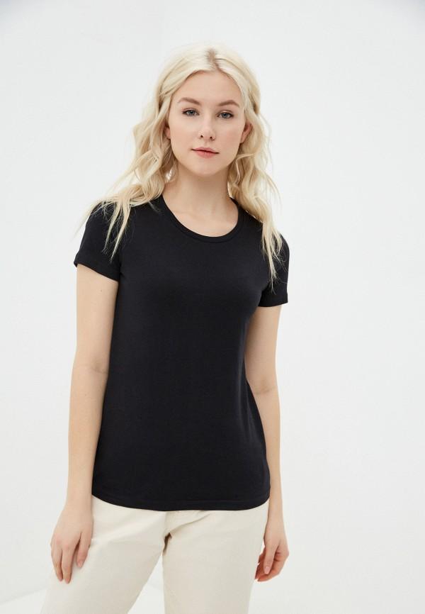 женская спортивные футболка outhorn, черная
