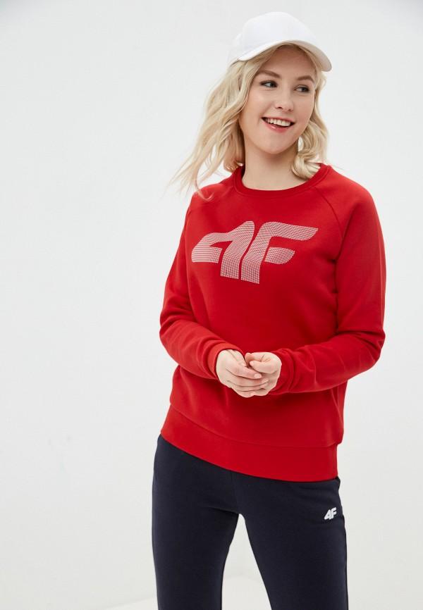 женский свитшот 4f, красный