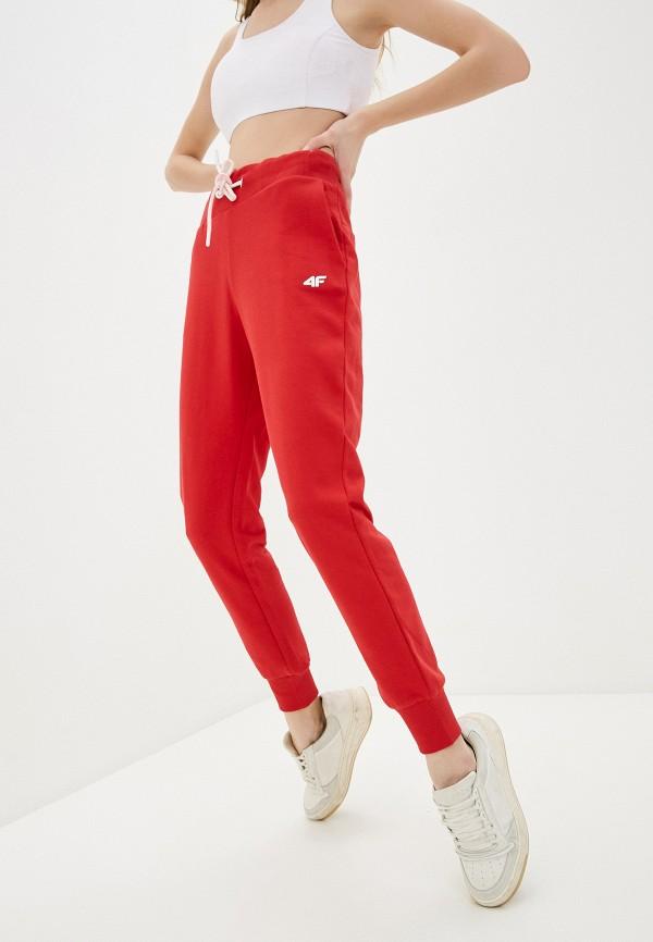 женские спортивные брюки 4f, красные