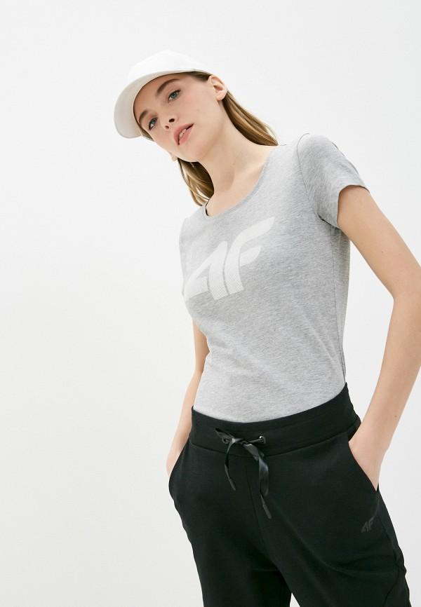 женская спортивные футболка 4f, серая