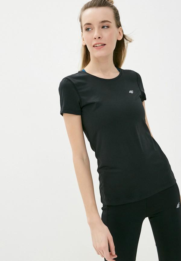 женская футболка 4f, черная