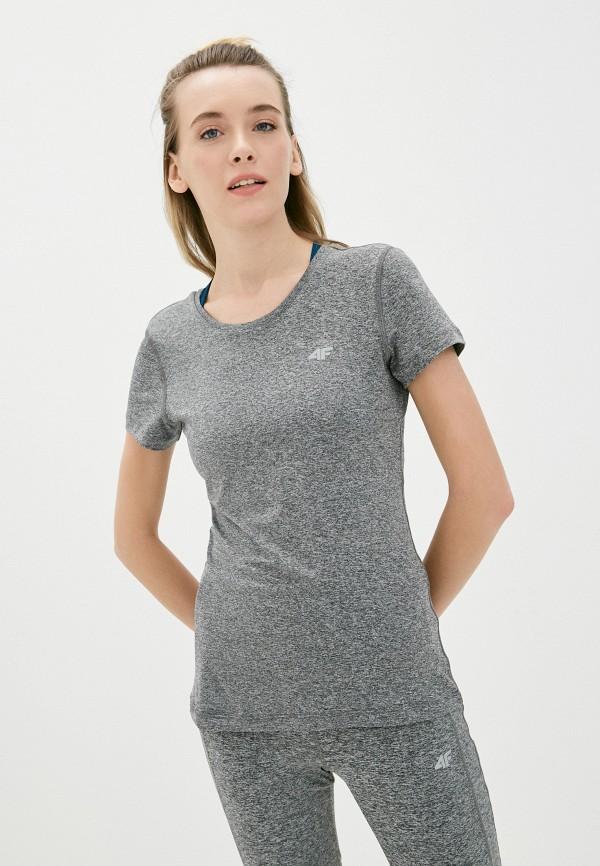 женская футболка 4f, серая