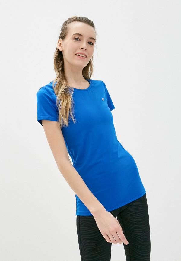 женская футболка 4f, синяя