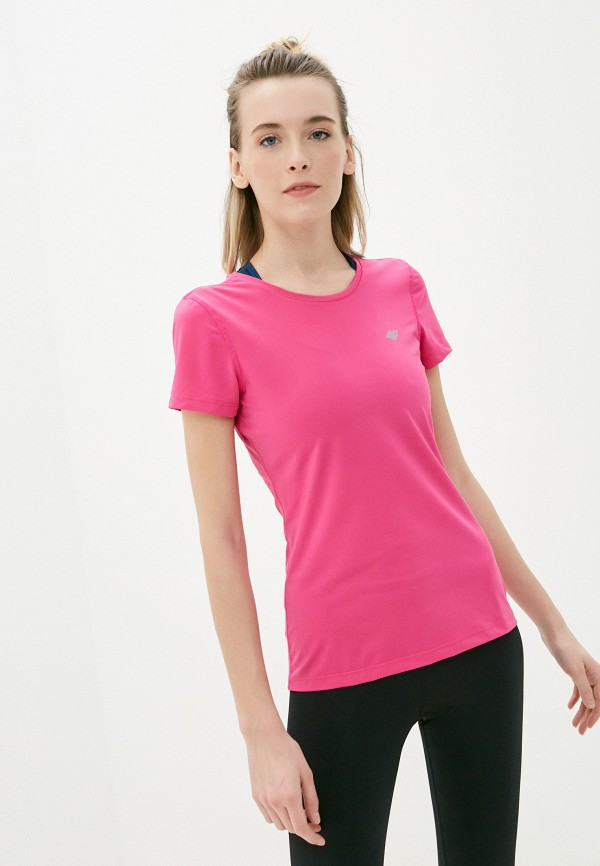 женская футболка 4f, розовая