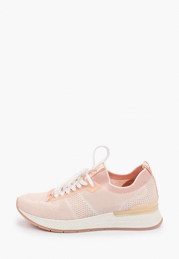 женские кроссовки tamaris fashletics, бежевые