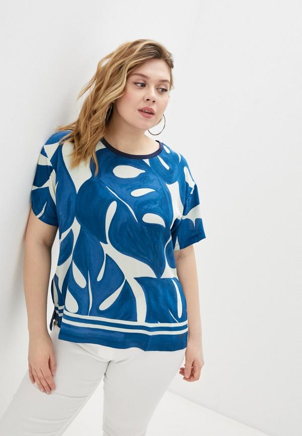 женская блузка с коротким рукавом seventy, синяя