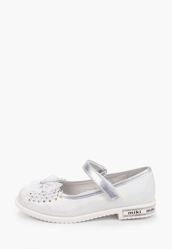 туфли tom-miki для девочки, серебряные