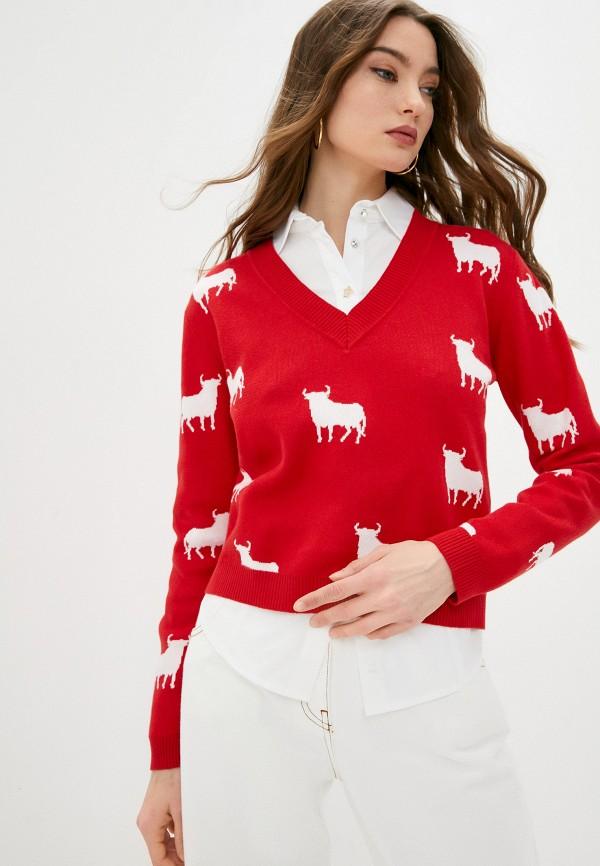 женский пуловер l'autre chose, красный