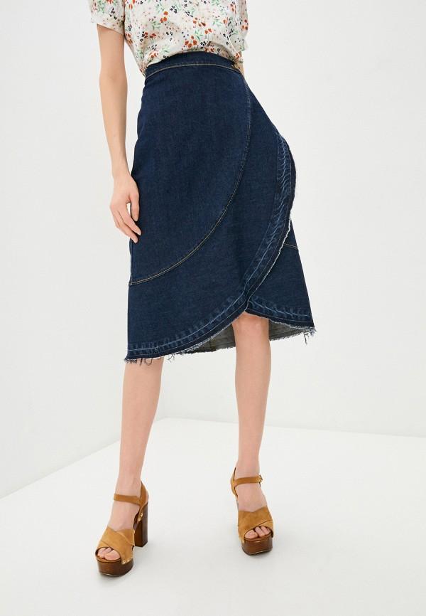 женская джинсовые юбка l'autre chose, синяя