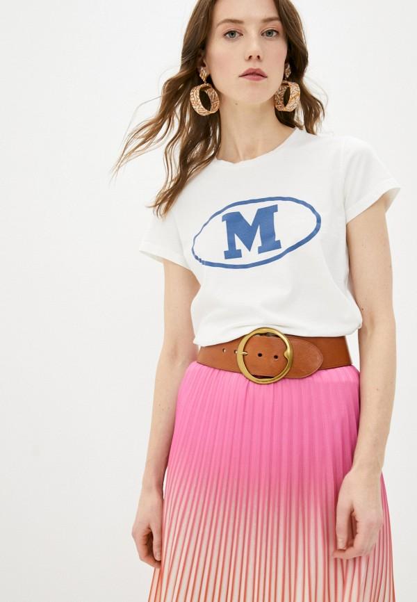 женская футболка m missoni, белая