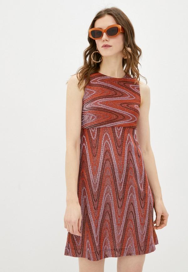 женское платье-футляр m missoni, разноцветное